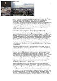 Det Danske Institut i Athen, rapport fra ophold oktober 2012