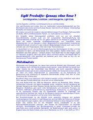 Light Produkte: Genuss ohne Reue ?