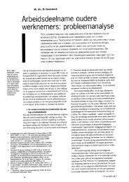 Arbeidsanalyse oudere werknemers: Probleemanalyse