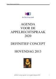 Agenda voor de appelrechtspraak 2020 - Rechtspraak.nl