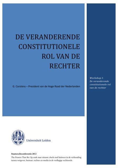 De wetgever in balans: over gewichten en ... - Rechtspraak.nl