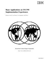 Baan Applications on OS/390 Implementation ... - IBM Redbooks