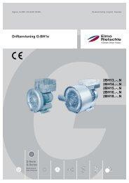 Driftanvisning G-BH1e - Elmo Rietschle