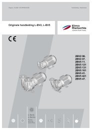 Originele handleiding L-BV2, L-BV5 2BV2 06 ... - Elmo Rietschle
