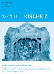 Kirche Z - Dezember 2011 - Reformierte Kirche Zug