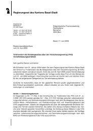 Revision BG Versicherungsvertrag - Regierungsrat