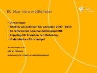 EU ökar våra möjligheter – Håkan Ottoson, Sveriges Kommuner och ...
