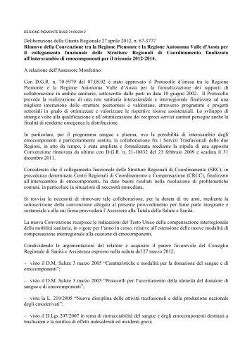 Testo del documento - Regione Piemonte