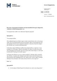 Svar på spørgsmål til advokatudbud - Region Hovedstaden