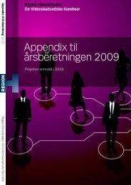 Appendix til årsberetningen 2009 - Region Hovedstaden