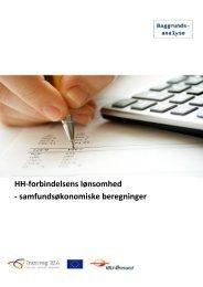 HH-forbindelsens lønsomhed - samfundsøkonomiske beregninger