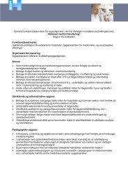 Generel funktionsbeskrivelse for sygeplejersker, der har deltaget i ...