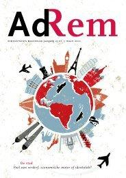 maartnummer van AdRem - Remonstrantse Broederschap