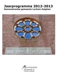 Jaarprogramma 2012-2013 - Remonstrantse Broederschap