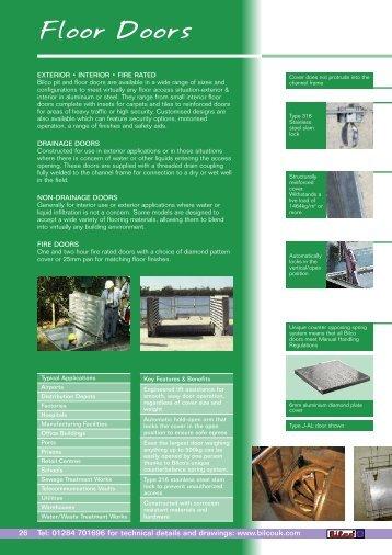 Floor Doors - RIBA Product Selector