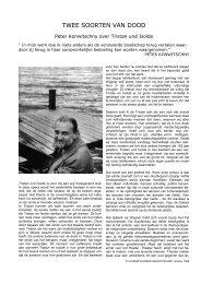 TWEE SOORTEN VAN DOOD - Vlaams Wagner Genootschap