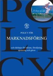 Policy för marknadsföring - Örebro läns landsting