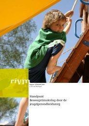 Standpunt Beweegstimulering door de jeugdgezondheidszorg - Rivm