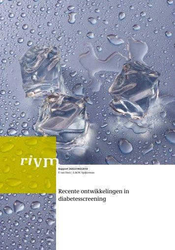 Recente ontwikkelingen in diabetesscreening - Rivm