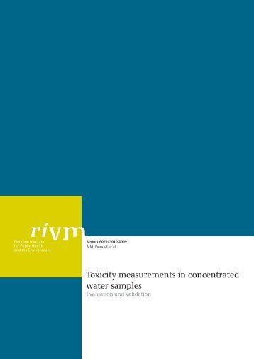 Toxicity measurements in concentrated water samples - Rivm