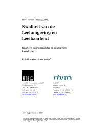 RIVM rapport 630950002 Kwaliteit van de Leefomgeving en ...