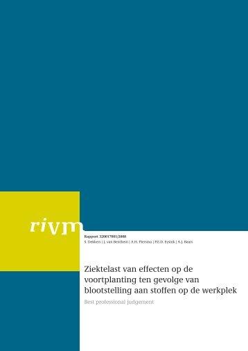 RIVM rapport 320017001 Ziektelast van effecten op de voortplanting ...