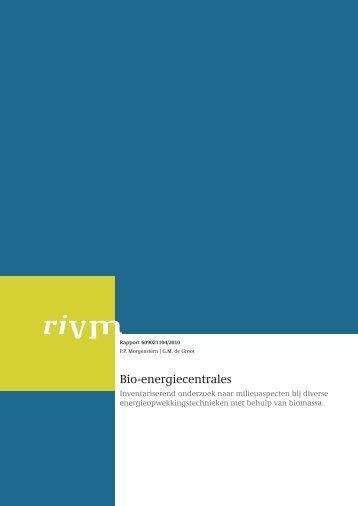 RIVM Rapport 609021104 Bio-energiecentrales