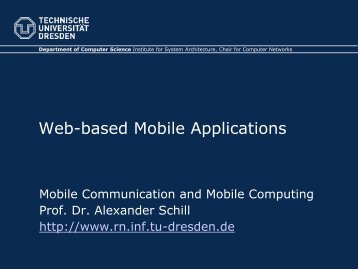 Web-based Mobile Applications - Computer Networks
