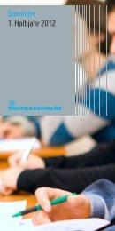 Seminare 1. Halbjahr 2012 - Rohde & Schwarz