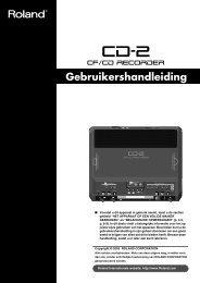 CD-2 Gebruikers Handleiding - Roland