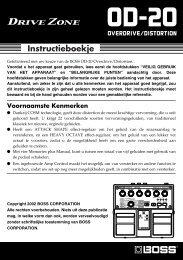 OD-20 Gebruikers Handleiding - Roland