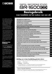 BR-1600CD Gebruikers Handleiding - Roland