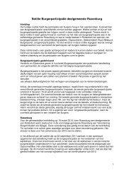 [PDF] Notitie Burgerparticipatie deelgemeente Rozenburg