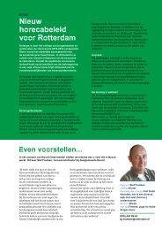 [PDF] Nieuw horecabeleid voor Rotterdam - Gemeente Rotterdam