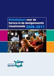 Beleidslijnen voor de horeca in de deelgemeente IJsselmonde
