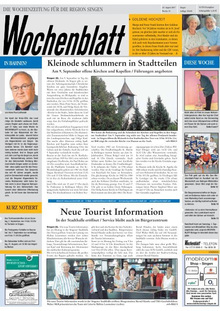 29. Aug. 2007 Singener Wochenblatt