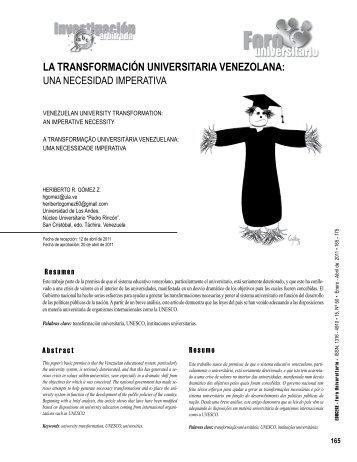 la transformación universitaria venezolana - Saber ULA ...