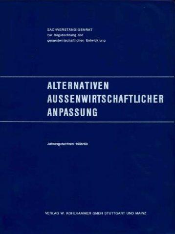 Jahresgutachten 1968/69 - Sachverständigenrat zur Begutachtung ...