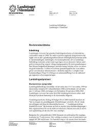 DatumVår beteckning - Landstinget i Värmland
