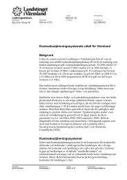 Kostnadsutjämningssystemets utfall för Värmland - Landstinget i ...