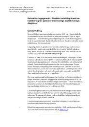 Implementeringsplan för rehabiliteringsgarantin - Landstinget i ...