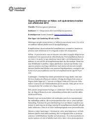 61 Omoperation efter total höftprotesoperation - Landstinget i ...