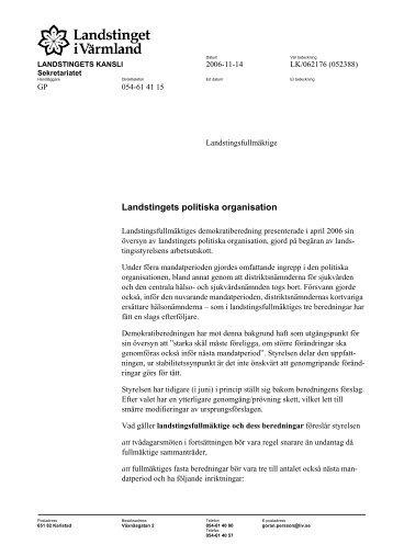 Datum Vår beteckning - Landstinget i Värmland