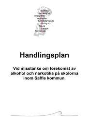 Handlingsplan, alkohol och narkotika 2012-2013 - Säffle kommun