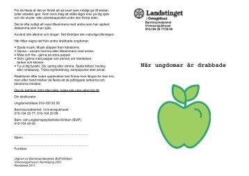 """"""" När ungdomar är drabbade"""" (pdf, nytt fönster)"""