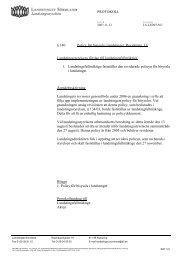 140 Policy för bisyssla i landstinget. Revidering