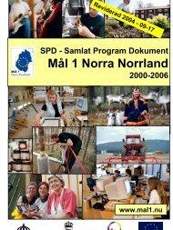 Mål 1 Norra Norrland - Norrbottens läns landsting