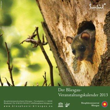 Der Bliesgau- Veranstaltungskalender 2013 - St. Ingbert
