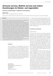 Anorexia nervosa, Bulimia nervosa und andere ... - Sanp.ch