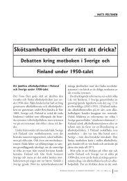 Matti Peltonen: Skötsamhetsplikt eller rätt att dricka?